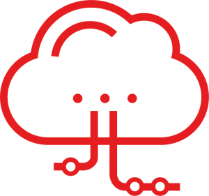 cloud systems development icon
