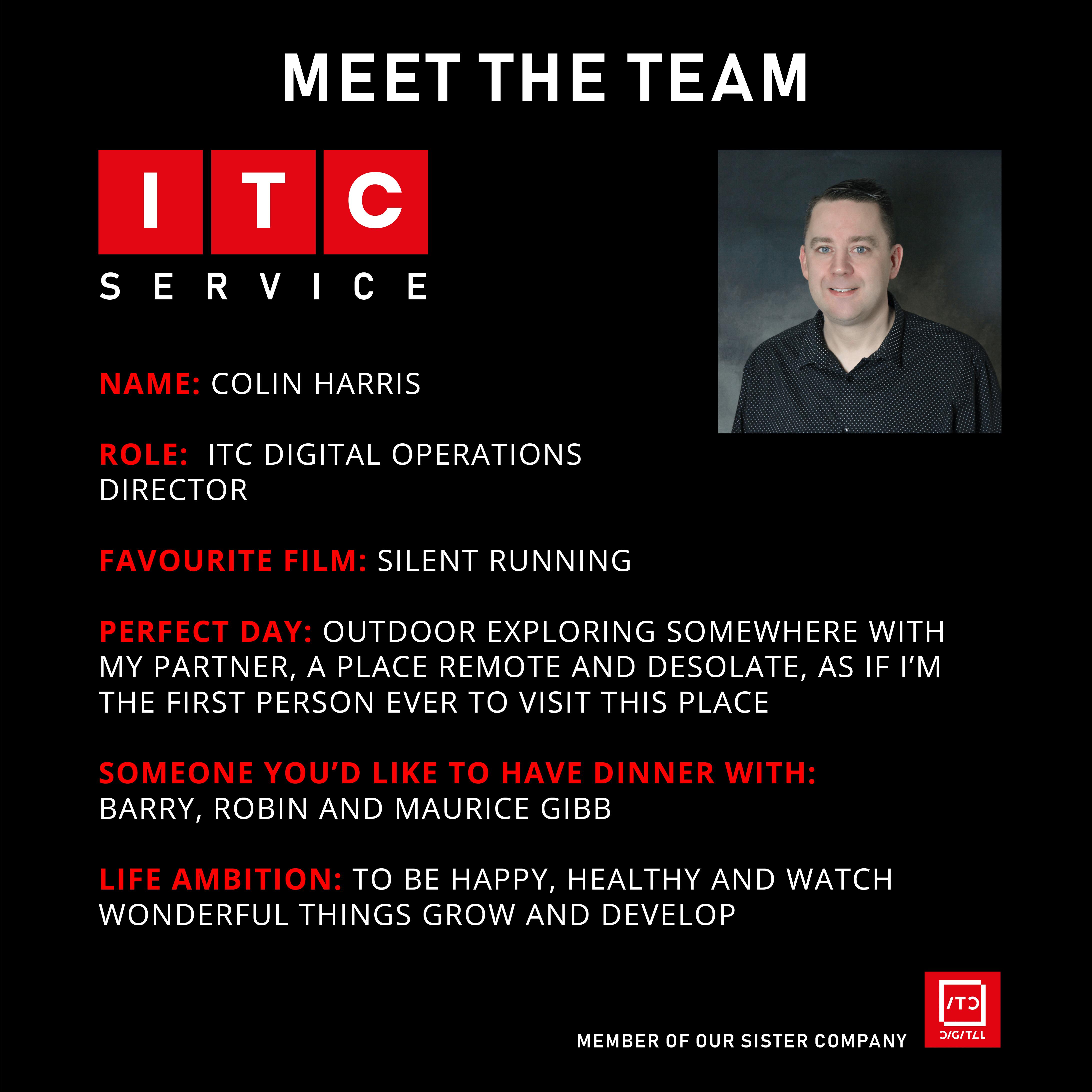 Employee Profile – Colin Harris (Operations Director)