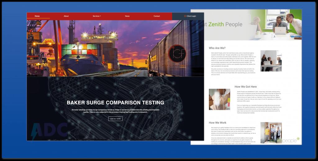 Three new responsive website